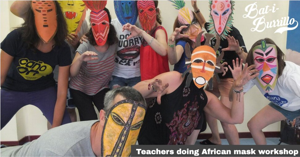 Mask-making workshop for teachers