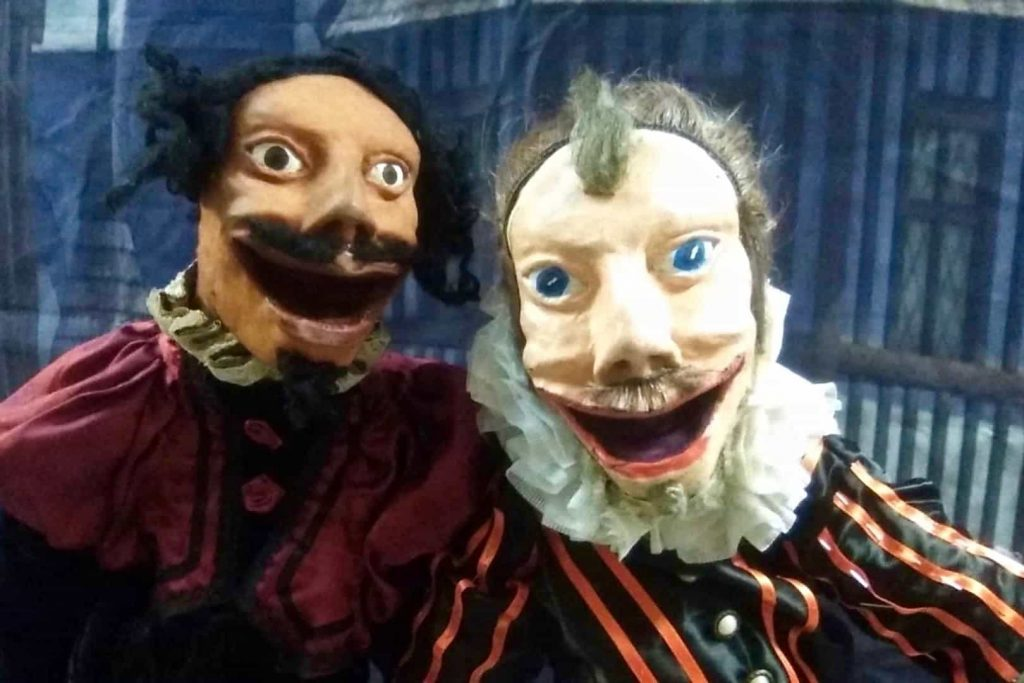 Cervantes and Shakespeare puppets